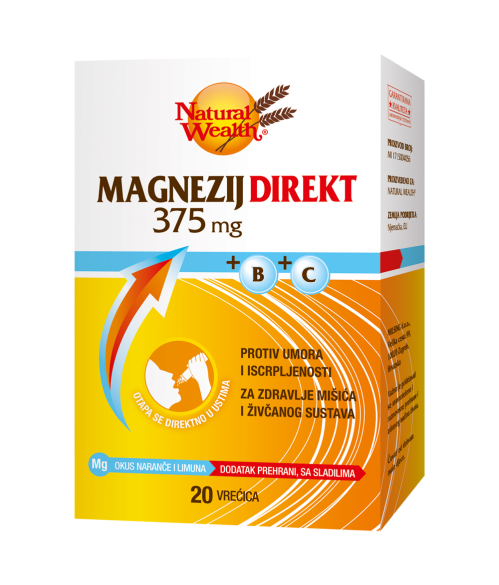Natural Wealth Magnezijum Direkt 375mg+B+C